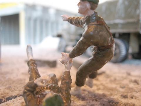 Bergfall (macro detail of figurines 3)