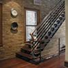 Walnut stairs and handrail