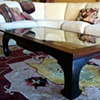Oak and glass coffe table