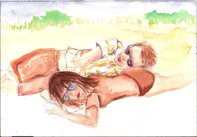 Helen & Greg on Sandy Hook