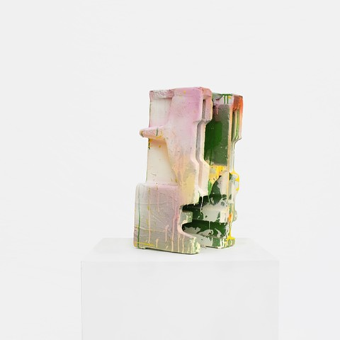 Untitled (Green + Pink + Yellow Sculpture)