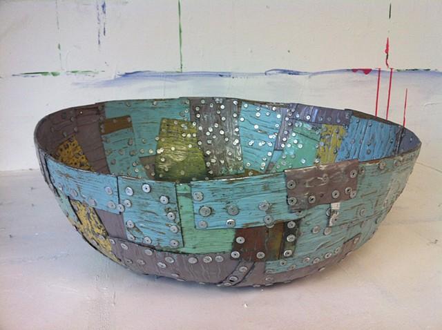Patchwork Metal Bowl