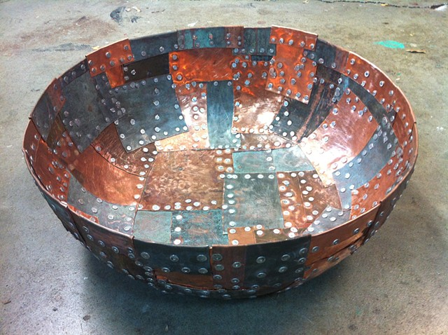 Patchwork Copper Bowl
