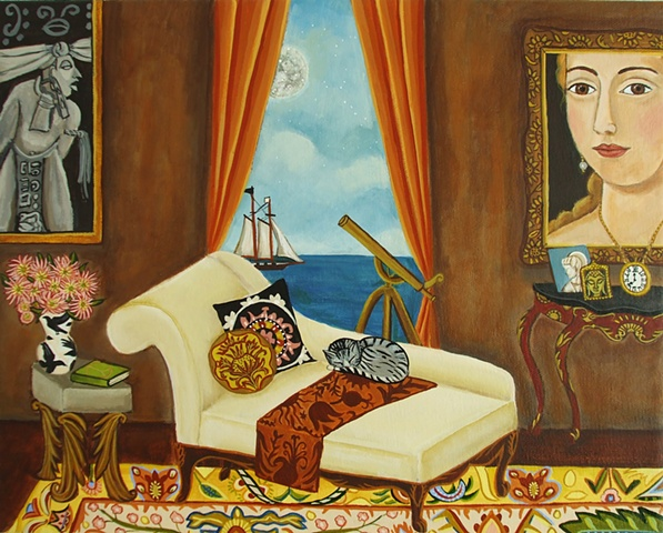 art, painting, catherine nolin, spiritual interior, white couch