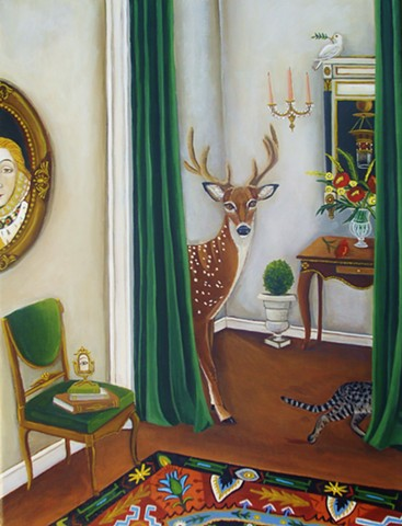 art, painting, portrait, catherine nolin, original panting, fine art, art studio, woman portrait