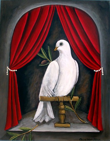 art, painting, dove of peace, picasso, paintings, love branch , catherine nolin, bird, white dove, hope, peace art