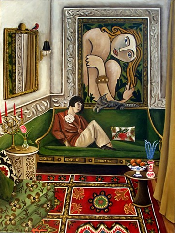 art, paintings, paintings for sale, matisse, interiors, room with view, contemporary realism, catherine nolin, gloria Vanderbilt,