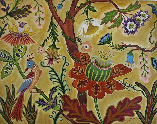 living tree, tree of life, catherine nolin , painting botanical
