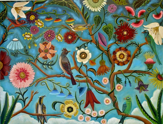 bird painting, fione art, paintings for sale, beautiful art, one to watch artist, catherine nolin, fabric design