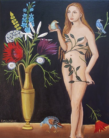 art, painting, eve, adam and eve, catherine nolin, canvas art, Lucas Cranach the Elder