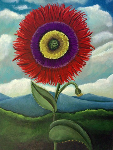 flower painting, catherine nolin, poppies, flora, vintage art,