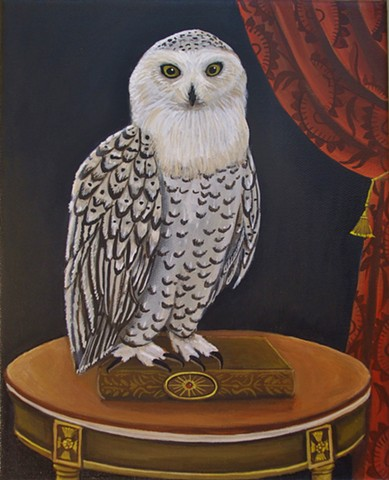 owl painting, catherine nolin, jan van eyck, art