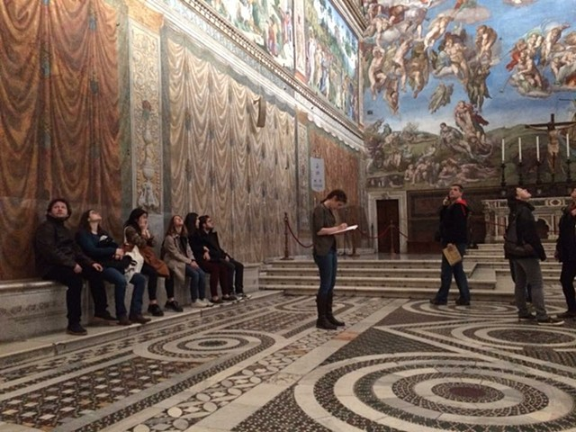 Scoon Drawing Floor in Sistine Chape Rome Italy 2016