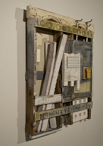 Wood, Ceramic, Casein, Found Materials 6 Foot by 6 Foot by 8 Inches