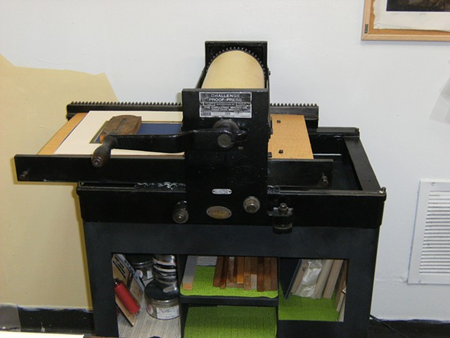 New addition to studio 103 This is my new, very old letterpress proof press.
