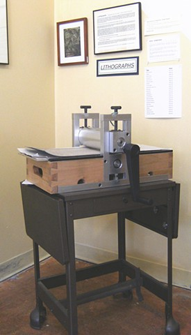 Newest addition! Portable etching press handcrafted by SoperMill