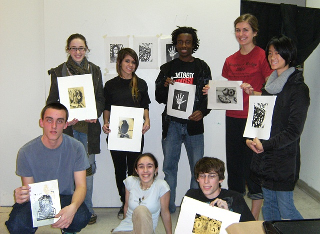 College Prep Printmaking 2009 / class photo