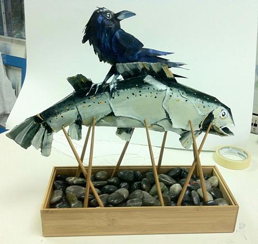 fish on poles #2