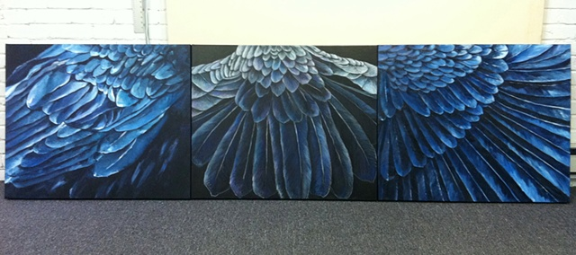 Feathers #1, #2, #3
