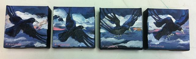 4 Flying Birds