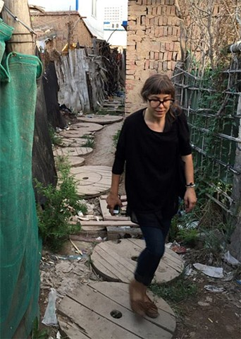 Amelia Tolkie exploring a Hutong in Lanzhou