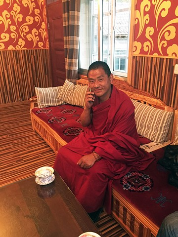 Monk with Cell Phone