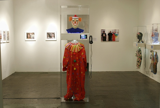 Everybody is Somebody's Terrorist Installation at Lyonswier gallery--clown display