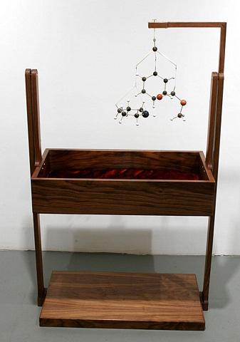 Field Crib with Ritalin Molecule Mobile