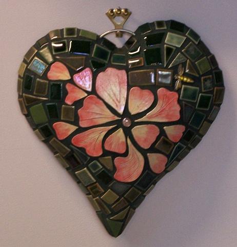 Handmade tile Garden Heart
