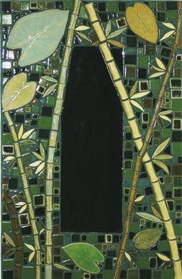 Bamboo Tile Mirror