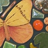 Orange Butterfly heart