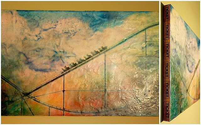Encaustic Mixed Media Painting