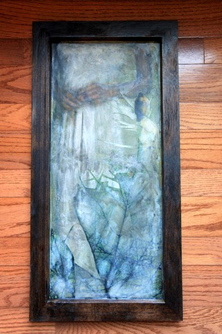 Encaustic Mied Media Painting