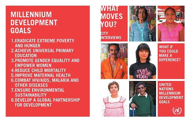 what moves you? raises awareness about the UN's Millennium Development Goals