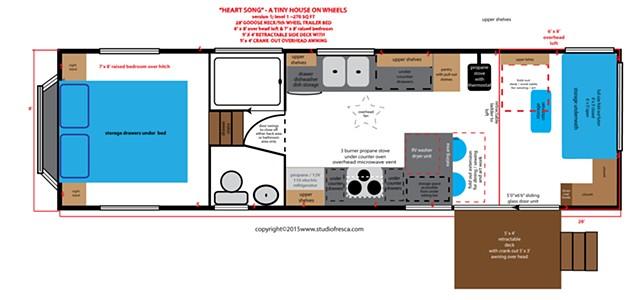 tiny house, on wheels, small house, home design, artchitecture, trailer, 5th wheel, studio fresca,