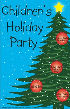 POSTER FOR ANNUAL CHILDREN'S CHRISTMAS PARTY - 2003