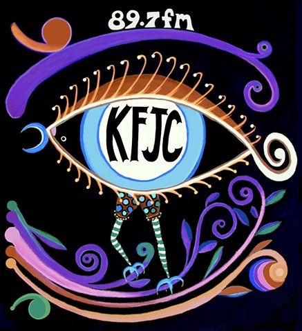KFJC Fundraiser Design for Girly T-shirts