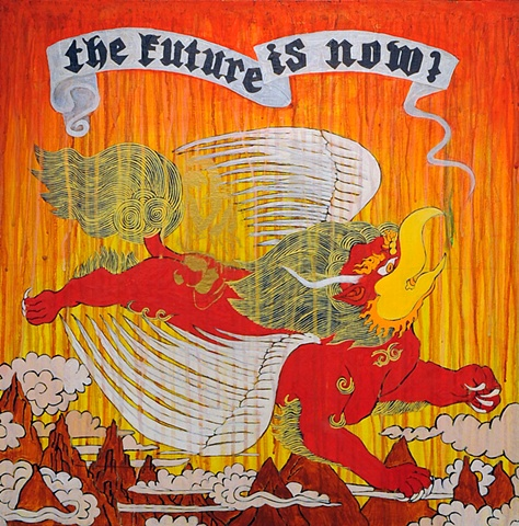 THE FUTURE IS NOW - Garuda-lion Thangka