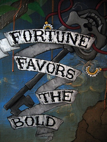 Fortune Favors the Bold (Detail 2) Private Collection