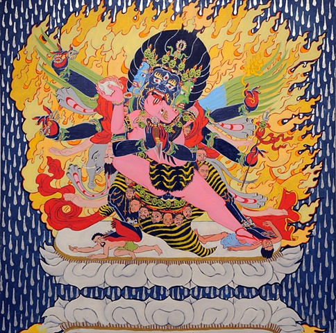 VIRGIN TEARS - Yab Yum figure thangka