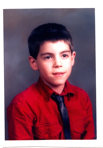 Grade 3 photo, 80's thin pleather tie