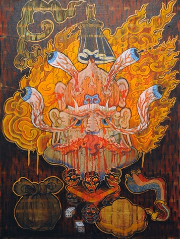 Offerings to Wrathful Deities Thangka