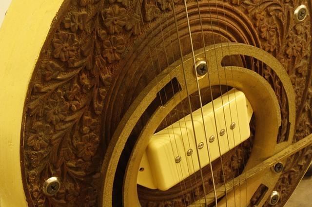 Yellow Sarangi detail