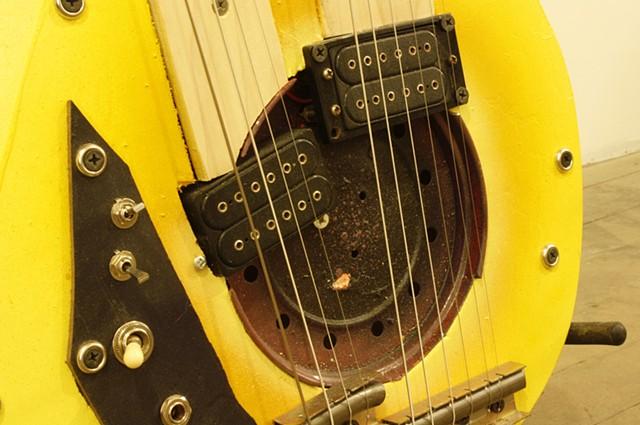 Yellow Two Neck detail