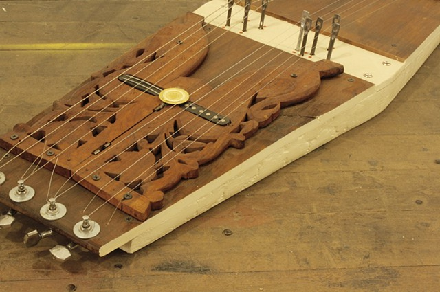 Carved Dulcimer Detail
