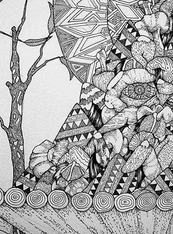 Twin Gods (detail)