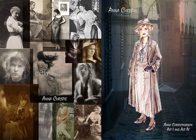 Anna Christie research and sketch
