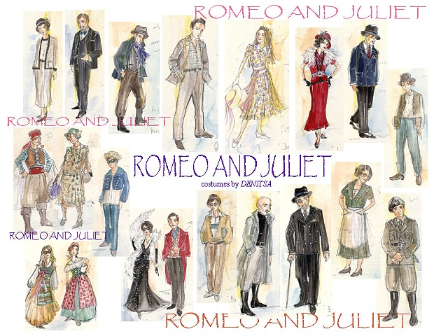 Romeo and Juliet sketches