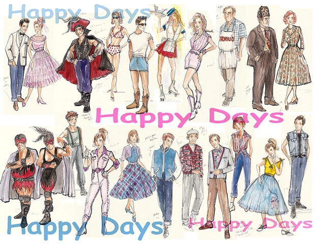 Happy Days sketches