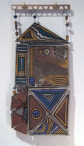 Ceramic wall piece tiles